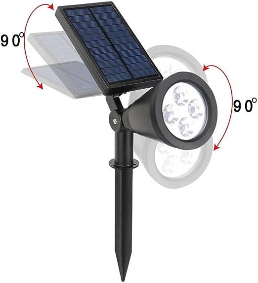 Luz Solar Exterior 【 4-Paquete 200 LED 1200 Lumens】270/°Iluminaci/ón Foco Solar con Sensor de Movimiento Impermeable L/ámpara Solar para Jard/ín Camino