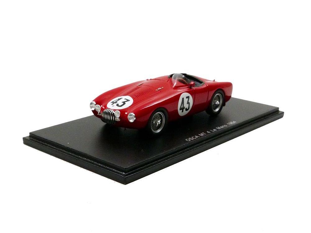 Spark S4737 – Fahrzeug Miniatur – Osca MT 4 – Le Mans 1954, rot, Maßstab 1/43