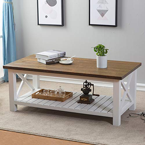 Natural Wood Set Coffee Table - 3