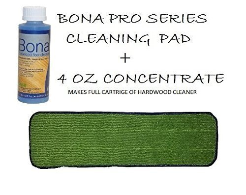 Professional Bona Cleaning Pad with Hardwood Concentrate by Bona