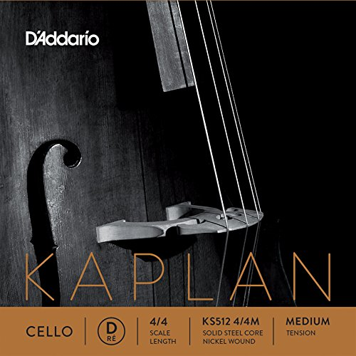 D'Addario Kaplan Cello Single D String, 4/4 Scale, Medium Tension