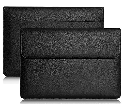 Premium Leather Busniess Carrying Sleeve bag Breifcase Cover for Samsung Galaxy Book 12 / Lenovo Miix 710 12 / Asus Transformer 3 12.6 / Eve V 12 / iPad Pro 2 12.9 / Dell Latitude 5285 12 in Tablet