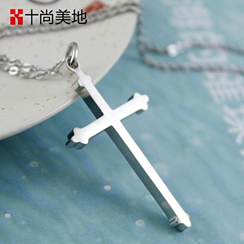 Generic Faith_Christian_316l_stainless_ steel cross necklace Pendant necklace Pendant men women _do_not_fade_minimalist_ jewelry by Generic
