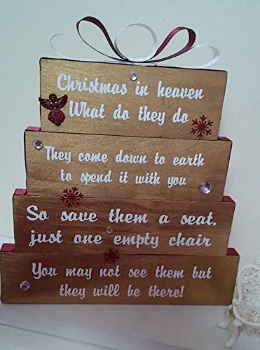 Christmas In Heaven Chair.Amazon Com Christmas In Heaven Save Them A Seat One Empty