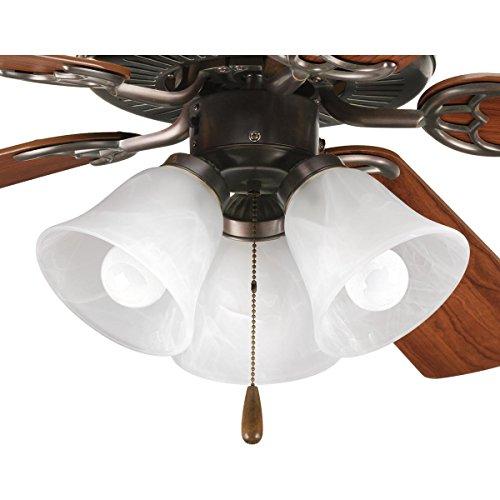 - Progress Lighting P2600-20WB Fan Light Kit, Antique Bronze