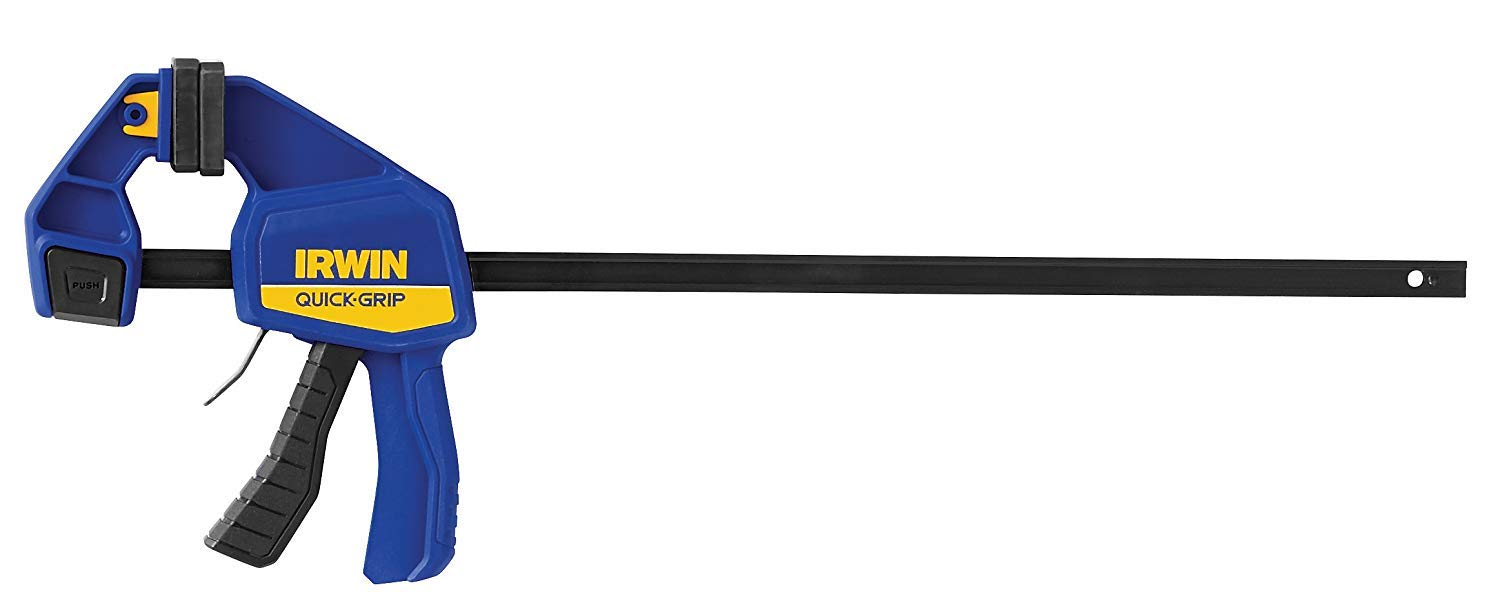 IRWIN QUICK-GRIP One-Handed Bar Clamp, Medium-Duty, 18'', 3 Pack, 1964719 by Irwin Tools (Image #2)