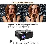 OHDERII Projector,Lumens Projector for Outdoor