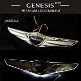 hyundai emblem led - LIGHTKOREA Hyundai Genesis G80 LED 2Way Genuine Trunk Emblem