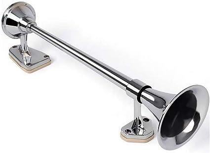 Masleid Lufthorn Drucklufthorn Luftdruck Fanfare Auto Horn 128db Super Loud 24v Hupe Für Lkw Boot Sport Freizeit