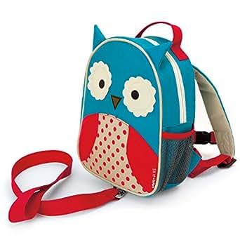 Skip Hop Zoo Little Kid and Toddler Safety Harness Backpack, Otis Owl