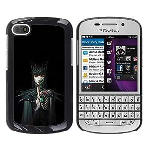 Paccase / SLIM PC / Aliminium Casa Carcasa Funda Case Cover - Woman Black Dark Fairytale - BlackBerry Q10