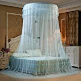 Mosquito Netting, Mingshop Princess Canopy Dome Round Summer Net Bedroom Bed (Aqua)