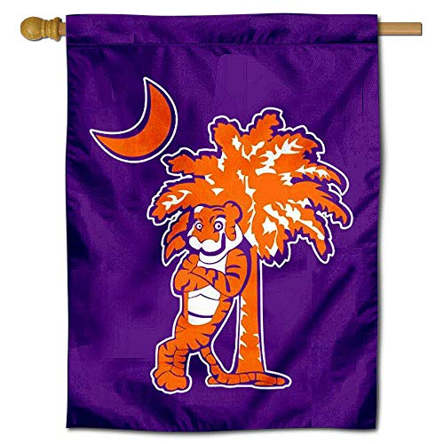College Flags and Banners Co. Clemson Palmetto Tree Double Sided House Flag