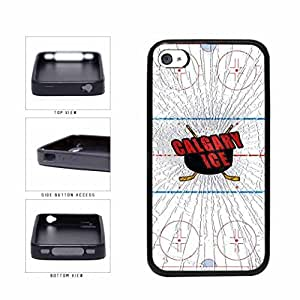 Calgary Ice Hard PC SILICONE Phone Case Back Cover Apple iPhone 4 4s