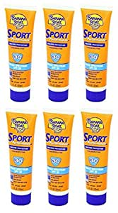 Banana Boat Sport Performance Sunscreen Lotion SPF 30, 1fl.-Ounce Tubes Pack of 6