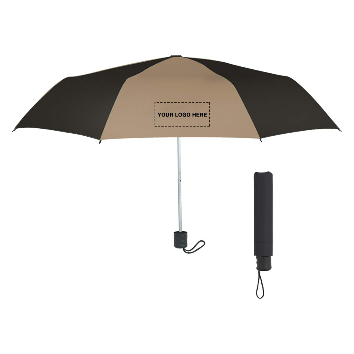 42'' Arc Telescopic Umbrella by Promo Direct | 50 QTY | 8.09 Each | Customization Product Imprinted & Personalized Bulk with Your Custom Logo