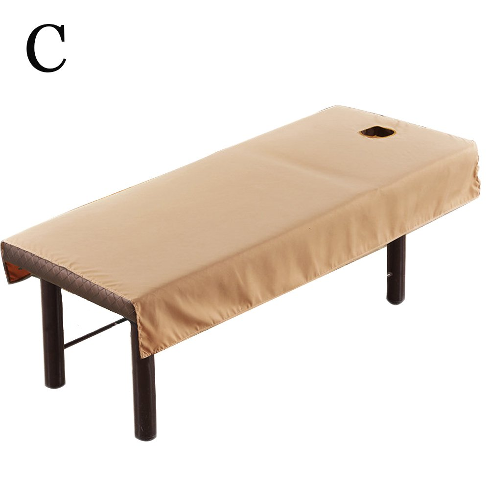 Gracefulvara Beauty Massage Bed Cover Linens with Face Breath Hole (White)