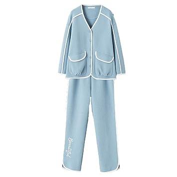 Pijamas Versión Coreana del Nuevo otoño de algodón de Gran ...