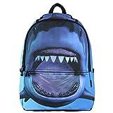 Veevan Premium Polyester Animal Cool Kids School Backpacks (Shark)