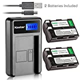 Kastar Battery (X2) & LCD Slim USB Charger for Nikon EN-EL3a, ENEL3A, EN-EL3, ENEL3, MH-18, MH-18a and Nikon D50, D70, D70s, D100 Cameras