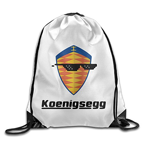 Bekey Sunglass With Koenigsegg Car Logo Gym Drawstring Backpack Bags For Men & Women For Home Travel Storage Use Gym Traveling Shopping Sport Yoga - Angeles Shirt London Los Frame