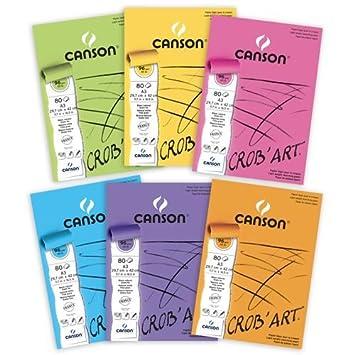 Canson 400100171 Crobart Bloc De Papier à Dessin Collé Petit Côté