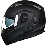 ILM Stealth Bluetooth Motorcycle Helmet Modular Flip up With Sun Shield Mp3 Intercom FM