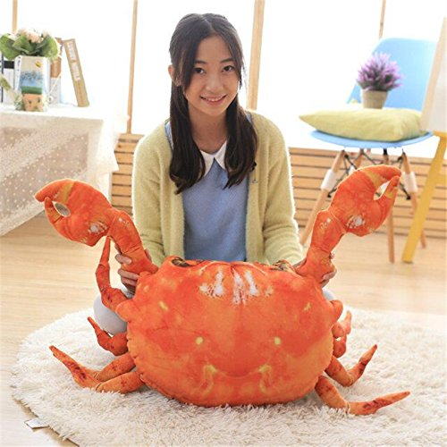 Crab Stuffed Shrimp - 90CM Big Plush Funny Creative Simulation Crab Lobster Shrimp Stuffed Toy Doll Pillow Animal