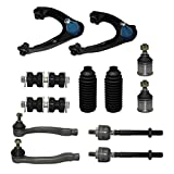 Complete 12pc Front Suspension Kit 1996-2000 Honda Civic - EXCLUDES SI - Both (2) Front Upper Control Arms & All (4) Ball Joints, 2 Sway Bar, All (4) Inner & Outer Tie Rod, 2 Tie Rod Boot…