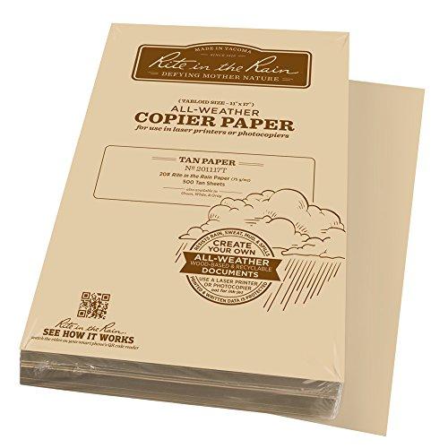 Rite in the Rain Weatherproof Laser Printer Paper, Tabloid Paper Size 11