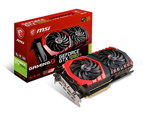 MSI NVIDIA GeForce GTX 1080 TI GAMING X 11G 11 GB GDDR5X 352-Bit Memory DVI/HDMI/DP PCI Express 3 Graphics Card - Black
