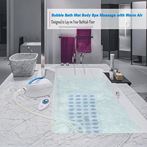 SereneLife Bubble Bath Tub Mat Massage Jacuzzi | Thermal Spa | Waterproof Non Slip Mat | Tub Spa Massager | Keep Warm Function Bath Mat | Relaxing Hot Tub | Remote Control Included by SereneLife (Image #4)