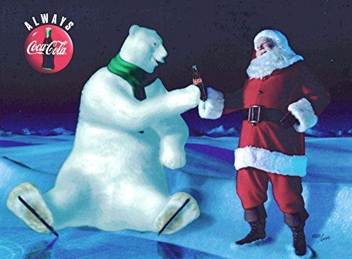 (Good Friends Coke Coca Cola Polar Bear Santa Claus Christmas Cel Ad)