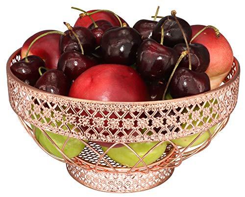 RosyLine Coffee Capsule Storage Basket, Mini Fruit Basket, Fruit Plate (Rose Gold)