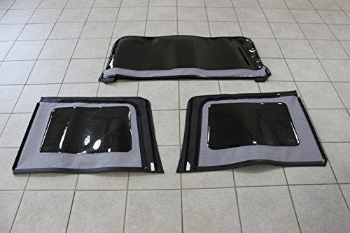 Jeep Wrangler 4 Door Soft Top Tinted Window Kit Set Of 3 Mopar OEM