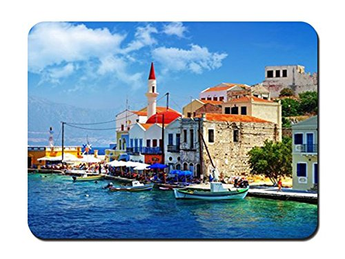 - Greece Dock Boat Building Mouse Pad - 8.6