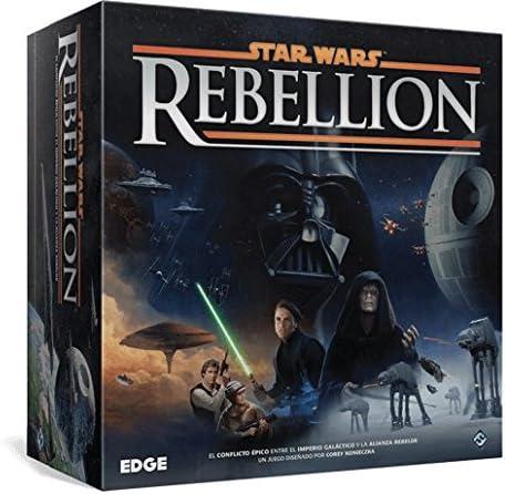 Portada de la caja del juego de mesa star wars Rebellion
