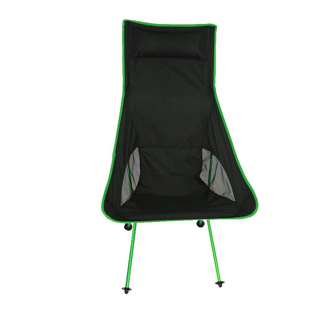 Tragbare Camping Stuhl Beweglicher Fischen-Stuhl-Garten-Stuhl-faltender Camping-Stuhl, zusammenklappbarer Stuhl der Schwerlast-150kg im Freien mit Tragetasche für Tätigkeiten im Freien Wanderer, Camp