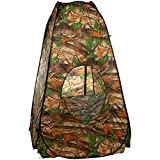 Privacy Shelter Tent, Portable Shower Toilet Changing Camping Outdoor Pop Up Tent with Carrying Bag & Window (Multi)
