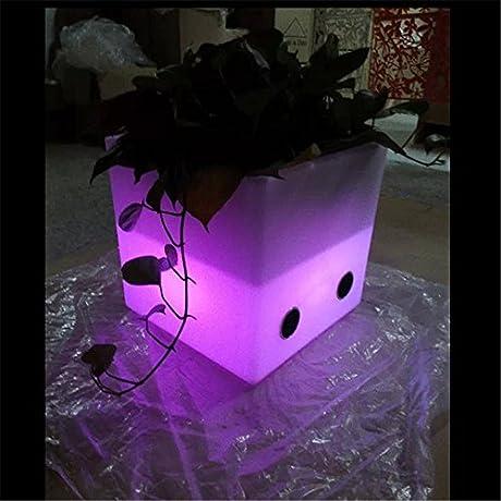 Music LED Light Up Flower Pot Speakers For Outdoor Indoor Use Glowing Pot Light Up Ice Bucket Speaker