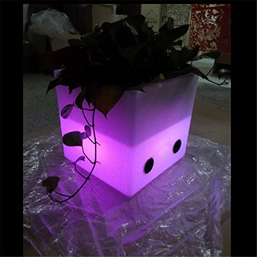 (Music LED Light up Flower Pot Speakers for Outdoor/Indoor Use - Glowing Pot/Light up Ice Bucket)