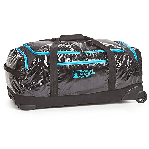 EMS Wheeled Gear Hauler Black/Blue One Size by Eastern Mountain Sports