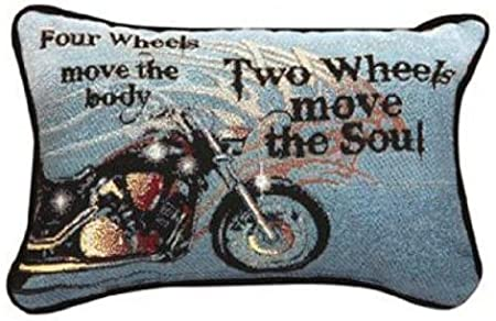 Manual 12.5 x 8.5-Inch Decorative Throw Pillow, Four Wheels Move The Body