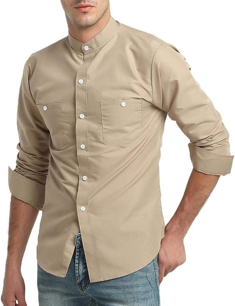 Winwintom -Camisas Hombre Camisa para Hombre, Slim Fit Manga Larga ...