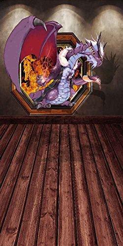 GladsBuy Cartoon Dragon 10' x 20' Digital Printed Photography Backdrop Wall Theme Background YHA-367 by GladsBuy