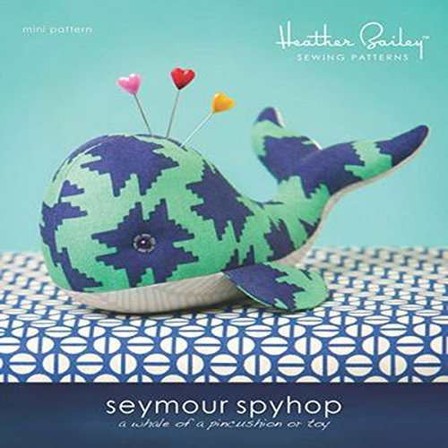 Heather Bailey Seymour Spy Hop Pincushion Whale Pattern by Heather Bailey LLC