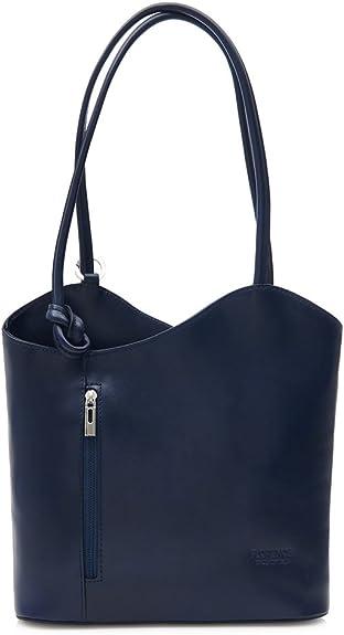 Big bolso Shop mujer piel italiana para llevar al hombro o mochila bolsa