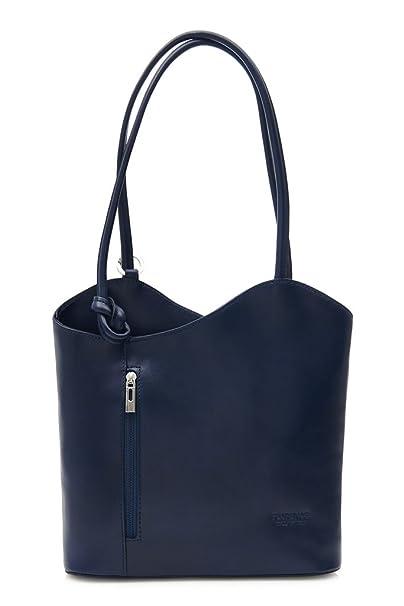 LiaTalia Lujoso bolso para damas, hecho en legítima Piel Italiana, con detalle de cordoncillo