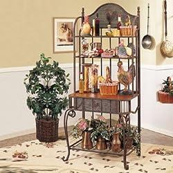 AtHomeMart Rooster Baker's Rack