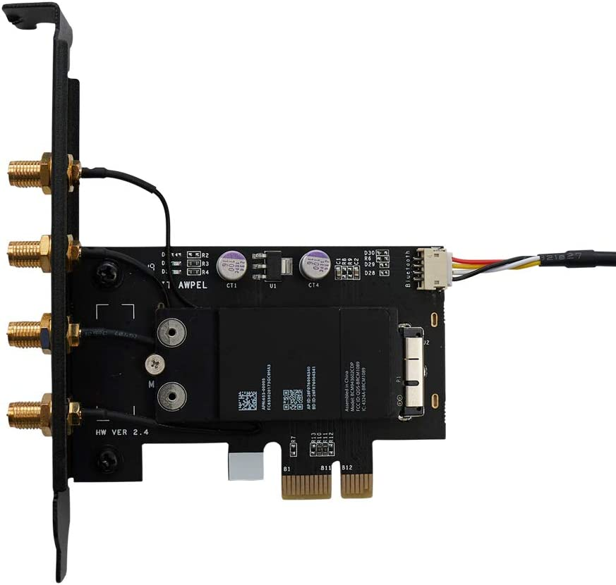 802.11 A//B//G//N//AC with Bluetooth 4.2 macOS Mojave Catalina 10.10+ Handoff and Continuity OSXWiFi PC//Hackintosh Broadcom BCM943602CDP
